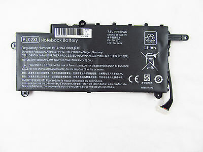 NEW Battery For HP PAVILION 11-N X360 751875-001 7.2V 29wh PL02XL