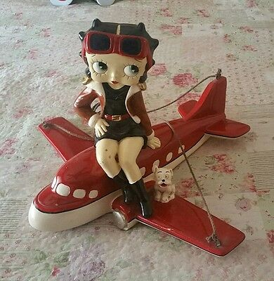 Very rare betty boop on plane statue
