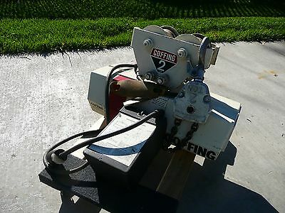 Coffing 2 Ton Electric Hoist with Trolly Very Good Condition Limited use