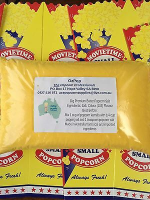 1kg Genuine Cinema Butter Popcorn Salt! We also sell oil, bags and corn