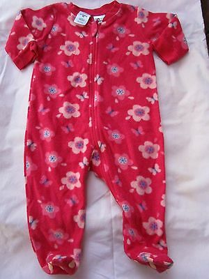 Baby girls warm Baby Berry one piece zip  coverall Size 000  flower design