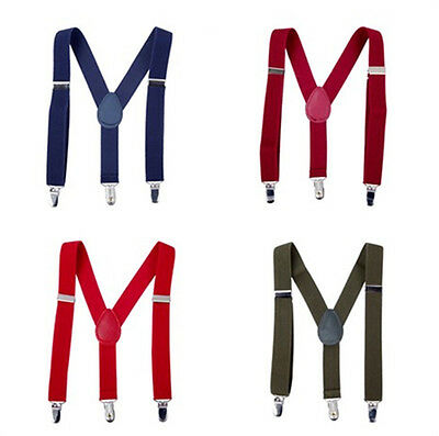 Kids Boy Suspender Braces 3 Clips Y-Back Toddler Trousers Clothing Accessories