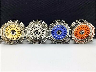 New Colorful Alloy BBS Wheel Rim Keychain Key Ring Key Chain Keyring Pendent