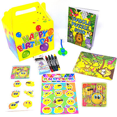 Boys Girls Pre-Filled Birthday Party Bags Boxes Activity Packs Kids Childrens
