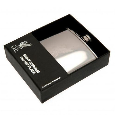 Official Licensed Football Product Liverpool Hip Flask Gift Chrome Adult New