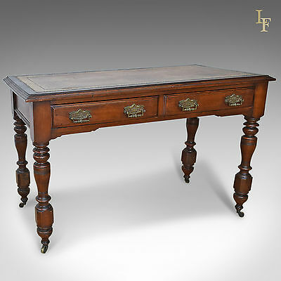 Antique Desk, Late Victorian Writing Table, English, Oak, 19th Century c.1880
