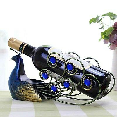 Practical Peacock Wine Holders Racks Glass Wine Bottle Rack Support High Quality
