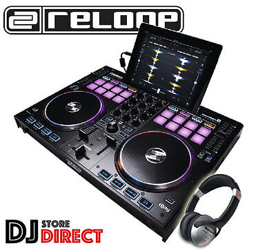 RELOOP BEATPAD 2 - 4 Channel Dj Controller for Mac Android iPad Free Headphones
