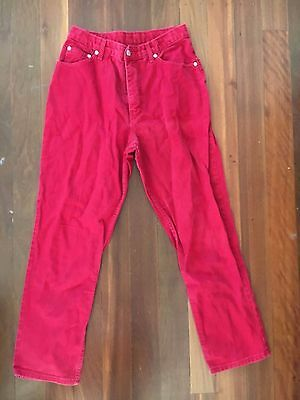 Vintage Marks & Spencer Red high waisted mom jeans approximately size 10