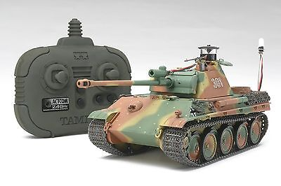 Tamiya 48209 1/35 RC Tank German Panther Type G Late Ver. Kit w/2.4GHz Tx/Rx