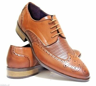 New Mens Casual Formal Wedding Lace Up Designer Brogue Fashion Shoes Size