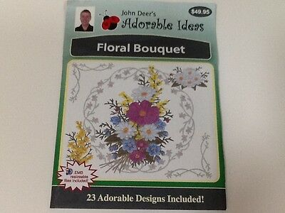 John Deer'S Adorable Designs Floral Bouquet Machine Embroidery Cd