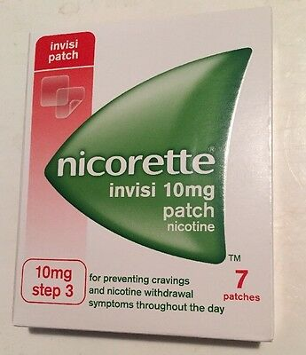 Nicorette Invisi 7 X Patches 10mg Step 3 One A Day 05/2019 Expiry