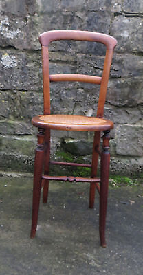 Child's Correction / Deportment Chair With Cane Seat Ideal For Displaying Dolls