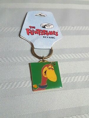 RARE HTF THE FLINTSTONES  KEY RING~ Dino the dinosaur Hanna Barbera 1994