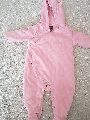 pink GAP snow suit for a baby 6-12 months