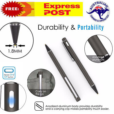 Universal 1.8mm Active Stylus Capacitive Touch Screen Pen iPad iPhone Samsung