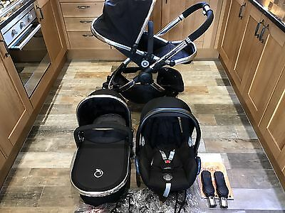 iCandy Peach 2 Black Magic Travel System In Excellent Condition