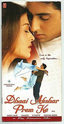 India Bollywood 2000 Dhaai Akshar Prem Ke press book Abhishek Aishwarya Rai