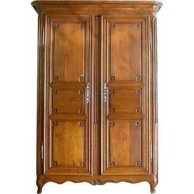 Antique French Directoire Oak Armoire c. 1790