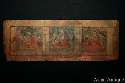 Mongolian Buddhist Manuscript  Drawing Painting  Mongolia #A3052
