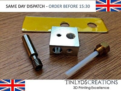 MK8 EXTRUDER 0.4mm Marked Nozzle+PTFE Throat+Ceramic Block ,CTC 3D printer parts