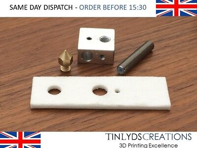 MK8 EXTRUDER 0.4mm Nozzle+M6x30 Throat+Ceramic+Block ANET A8 3D printer part
