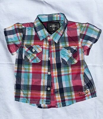 Checked Summer Shirt. H&M. 4-6 Months. Excellent Condition