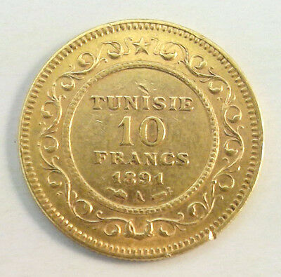 Tunisie 10 Francs Or 1891 A