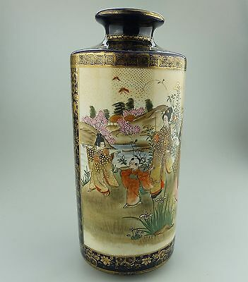 Antique Oriental China : Large Satsuma Vase C.late 19th / early 20th century