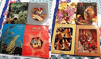 LOT OF 8 OLD VTG 1970's IDEALS MAGAZINES: CHRISTMAS, WOODLAND, COUNTRYSIDE +