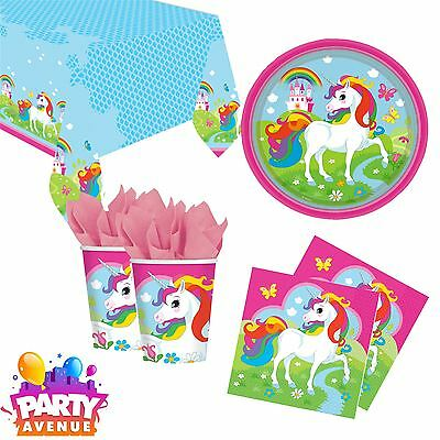 Generic Unicorn Party Rainbow Childrens Birthday Tableware