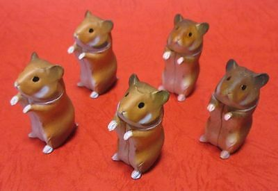 LOT5 Choco Egg GOLDEN HAMSTER Animal Collection Mini Figure Furuta Kaiyodo Japan