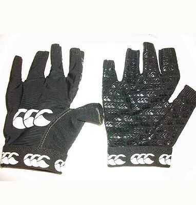P* at.    Canterbury Pro Grip Mitt Rugby Gloves - Black - Large