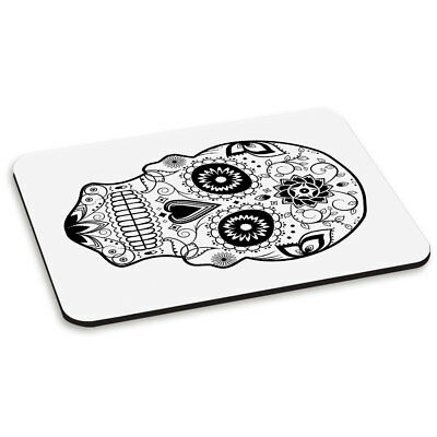 Black Sugar Candy Skull PC Computer Mouse Mat Pad