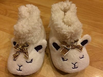 Cute Sheep Lovely Winter Baby Kids Warm Slippers Crib Shoes Size 2-3T
