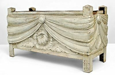 French Art Deco Large Rectangular Iron Jardinieres