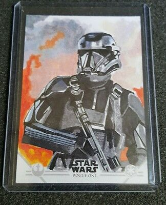 2017 Topps Star Wars Rogue One Series 2 SKETCH CARD by MARCIA DYE. AWESOME!