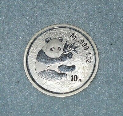 2000 China SILVER panda coin FROSTED RING Ag .999 1oz  ***X-Ray tested***