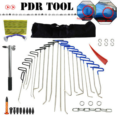 PDR Tools Paintless Rods Hail Dent Ding Repair Tools Bag Repart Pen with Heads