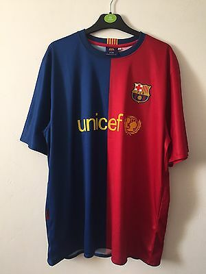 Men's Barcelona Shirt Size XL With Messi On The Back