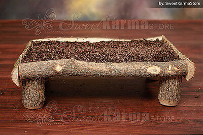 Real Wood Platform Style Log Bed Photo Photography Prop for Newborn Portraits