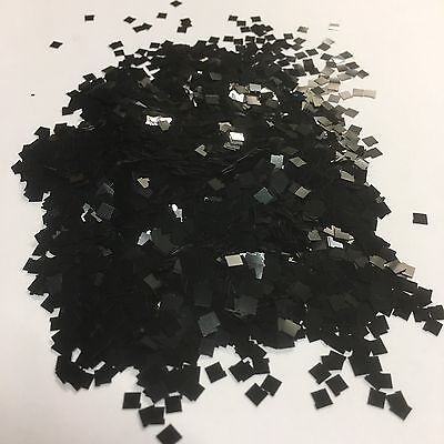 1kg Black Glitter 125 3mm Square Double Sided Chunky Large Walls Kilogram Body