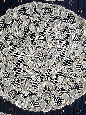 Lot Antique Alencon French Lace Coasters Doilies  Ecru