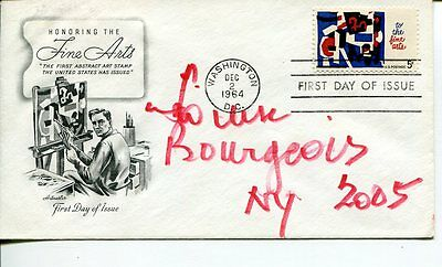 Louise Bourgeois Famous Contemporary Artist Sculptor Rare Signed Autograph FDC