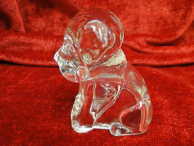 Vintage Puppy Dog  Glass Candy Containers