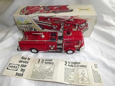 """Vintage 1970 HESS Marx Fire Truck Made in """"British Crown Colony of Hong Kong"""""""