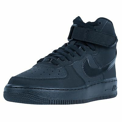 Nike Air Force 1 High Gs Basketball Shoes Black Black Black 653998 001 Size 4Y