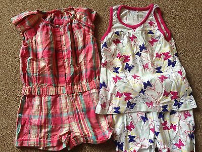 Summer Short Playsuits Pink Cute 18-24 1.5-2 Mothercare
