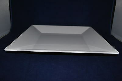 """20 PC  12"""" Square Melamine Plate (12""""  X  12"""") WHITE for Catering or Buffet"""